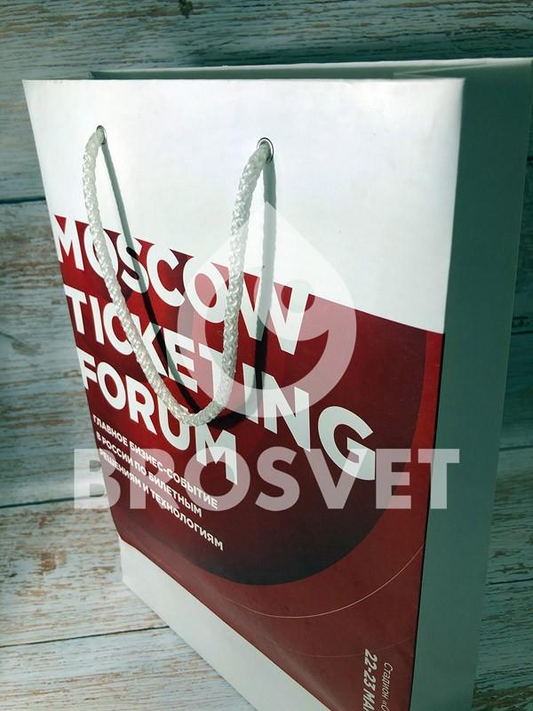 Производство бумажных пакетов  для,  рекламного агентства Москвы